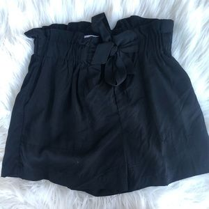 Nasty Gal Shorts - BLACK Paper bag Waist Shorts